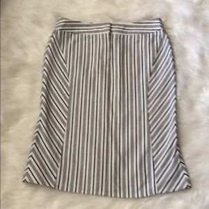 Express Fitted Striped 100% Cotton Skirt